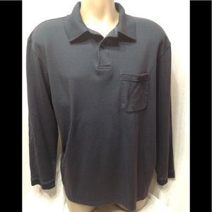 Men's size Large HAGGAR long-sleeved polo shirt